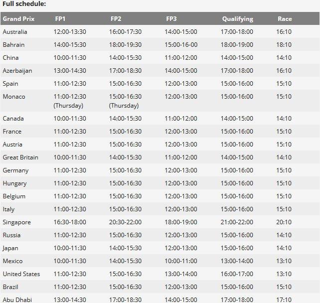 F1 announces season schedule – McLaren F1 News